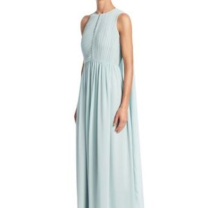 New Halston Heritage Baby Blue Gown~Maxi Dress~14